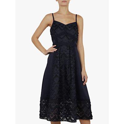 Ted Baker Leeeo Mixed Geo Lace Midi Dress