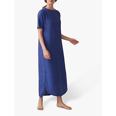 Toast Garment Dyed Linen Tea Dress, Lapis Blue