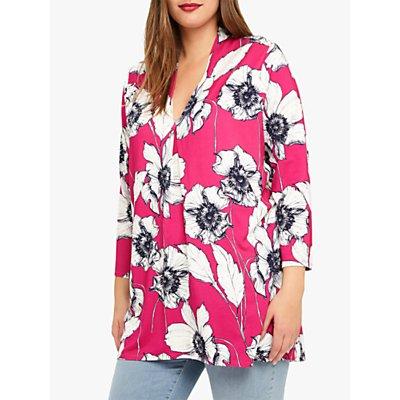 Studio 8 Hallie Floral Print Top, Pink Multi