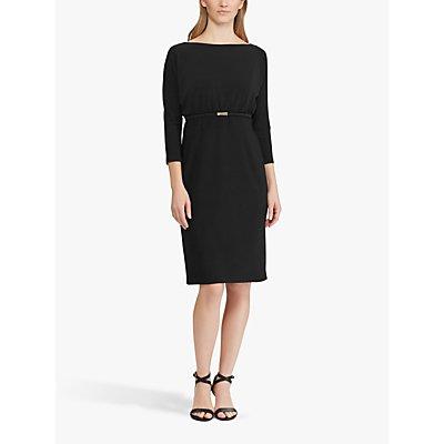 Lauren Ralph Lauren Belted Dolman Pencil Dress, Black