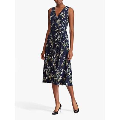 Lauren Ralph Lauren Carana Wrap Dress, Lighthouse Navy/Multi