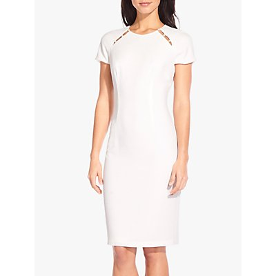 Adrianna Papell Textured Crepe Dress, Ivory