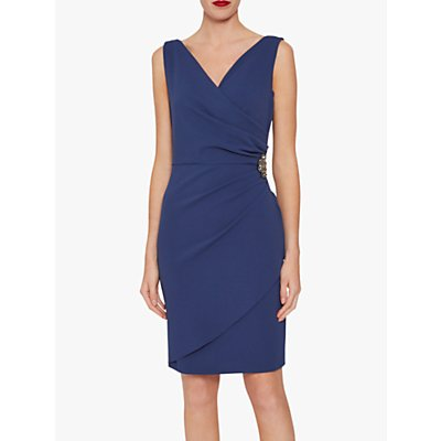 Gina Bacconi Terri Jewel Embellishment Tailored Stretch Dress