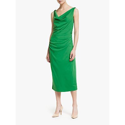 Winser London Soft Sleeveless Midi Dress, Emerald