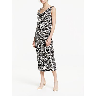 Winser London Soft Sleeveless Midi Dress, Leopard Print