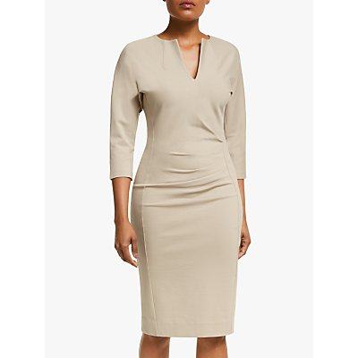 Winser London V-Neck Lauren Miracle Dress, Stone