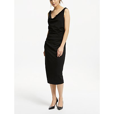 Winser London Soft Sleeveless Shift Dress, Black