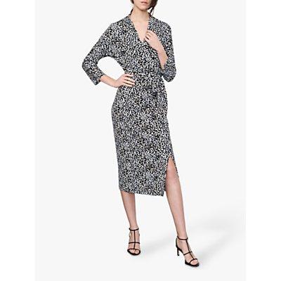 Winser London Wrap Leopard Print Dress, Multi