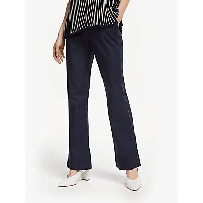 Winser London Cotton Twill Flared Trousers