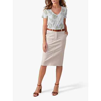 Pure Collection Chino Pencil Skirts