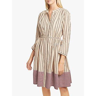 French Connection Cotton Stripe Dress, Lavender Multi