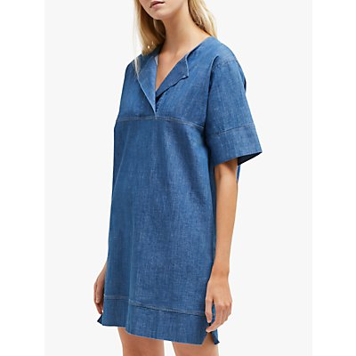 French Connection Lotty Dress, Mid Sky Blue