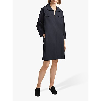 French Connection Briella Cotton Shirt Dress, Black