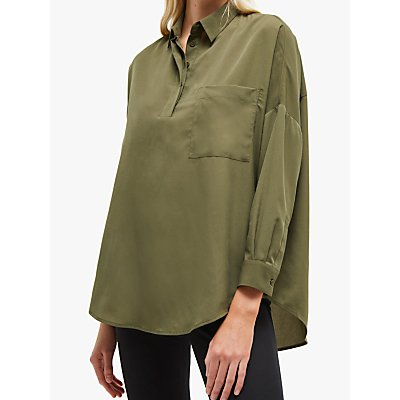 French Connection Crepe Pocket Shirt, Cactus