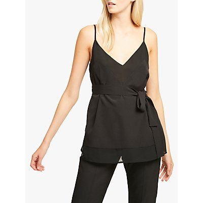 French Connection Crepe Belted Cami Top, Black