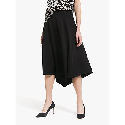Winser London Asymmetric Hem Jersey Skirt, Black
