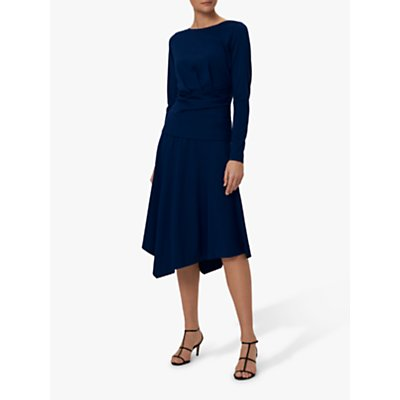 Winser London Asymmetric Jersey Skirt, Ink
