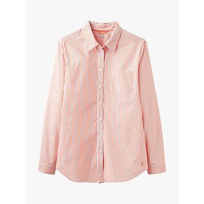 Joules Lucie Stripe Shirt, White/Orange