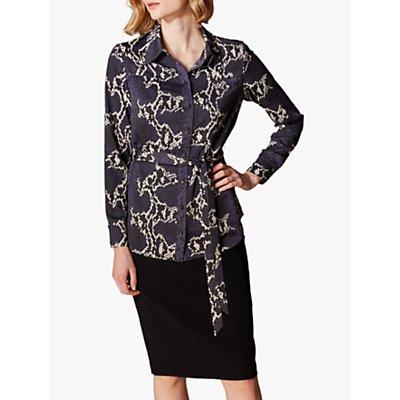 Karen Millen Snake Print Shirt, Grey