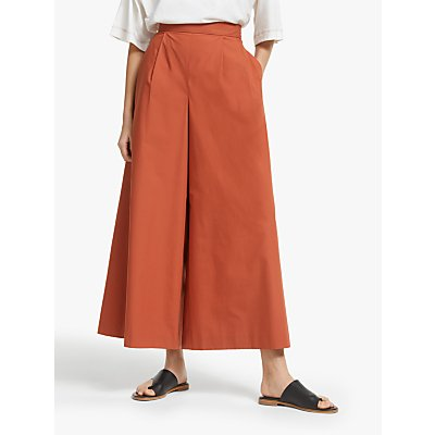 Kin Wide Leg Cropped Trousers, Rust