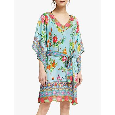 RubyYaya Jasmina Kaftan Dress, Blue