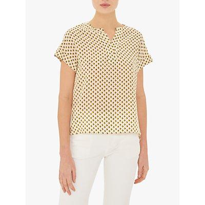 Gerard Darel Eliott Abstract Print Silk Blouse, Yellow/Multi