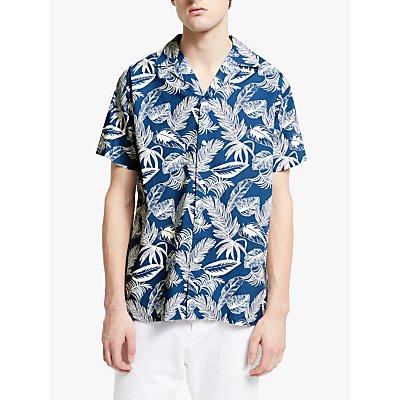 Maison Labiche Printed Hawaii Shirt, Navy Off White