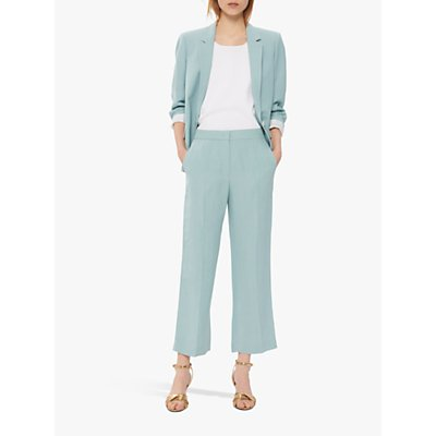 Gerard Darel Niame Cropped Straight Trousers, Pale Green