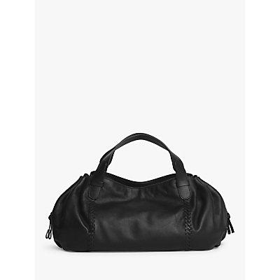 Gerard Darel Point 24 Leather Shoulder Bag, Black