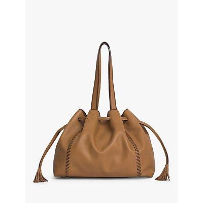 Gerard Darel Point 24 Leather Shoulder Bag, Beige