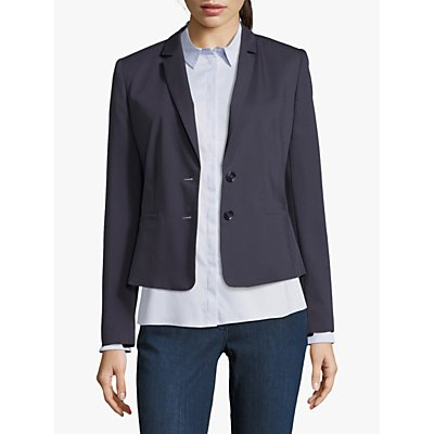Betty Barclay Short Tailored Blazer, Dark Sapphire