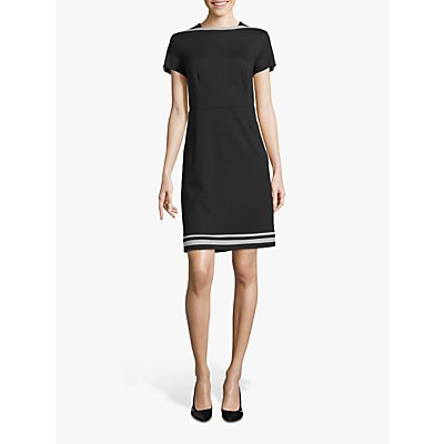 Betty Barclay Scalloped Sleeve Shift Dress, Black