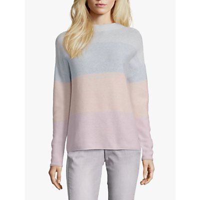 Betty Barclay Cotton Colour Block Top, Silver Rose