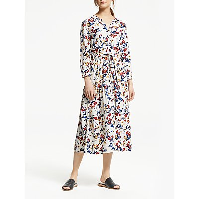 Stella Forest Floral Midi Dress, Ecru