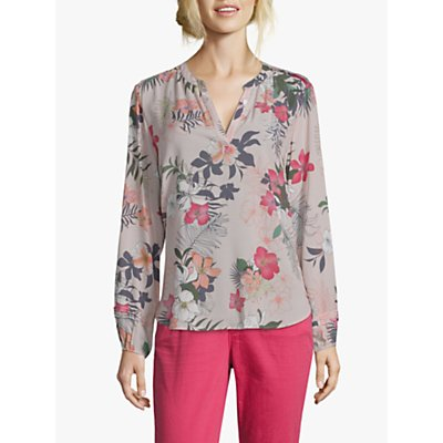 Betty & Co Floral Print Blouse, Grey