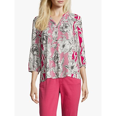 Betty Barclay Floral Print Blouse, Pink/White