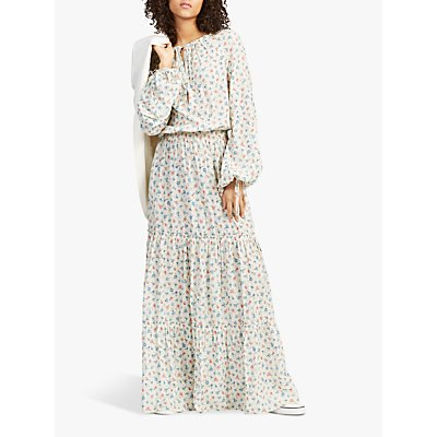 Polo Ralph Lauren Ditsy Floral Tiered Long Dress, Multi