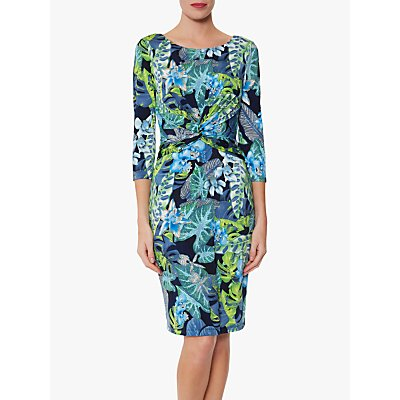 Gina Bacconi Glynda Jersey Dress, Blue/Green