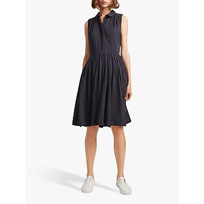 French Connection Enya Drape Dress, Utility Blue