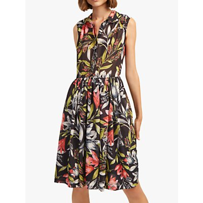 French Connection Cadencia Drop Dress, Black Multi