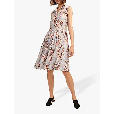 French Connection Alerie Drape Sleeveless Dress, Multi