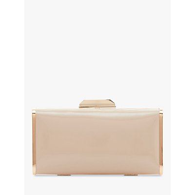 Dune Boxiee Metal Trim Clutch Bag