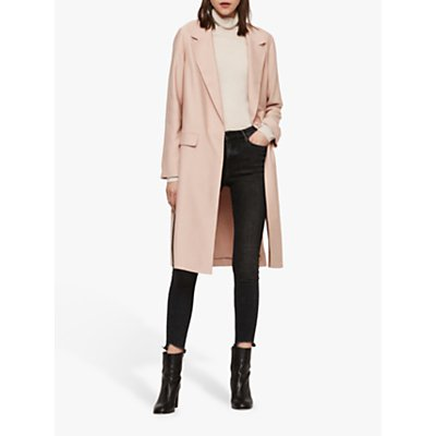 AllSaints Aleida Duster Coat, Blush Pink