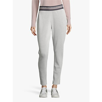 Betty Barclay Stretch Jersey Trousers, Silver/White