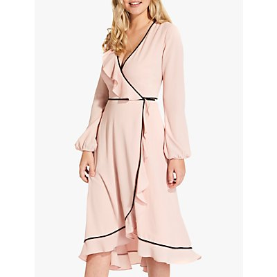Adrianna Papell Pebble Wrap Dress, Lotus