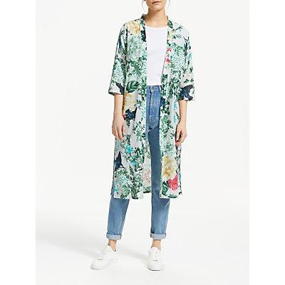 Thought Emily-Mary Summer Organic Cotton Kimono, Blue Multi