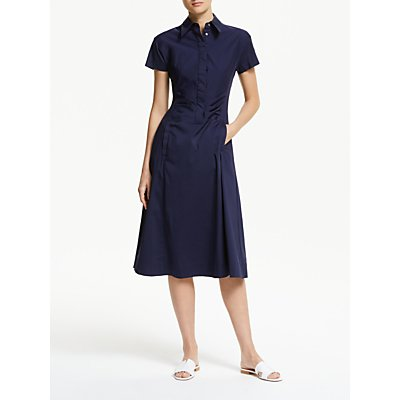 Winser London Cotton Poplin Midi Dress, Midnight