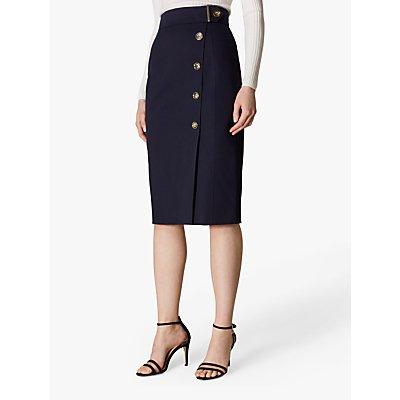 Karen Millen Buttoned Pencil Skirt