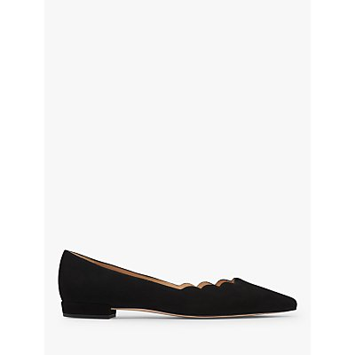 L.K.Bennett Justine Flat Court Shoes, Black Leather