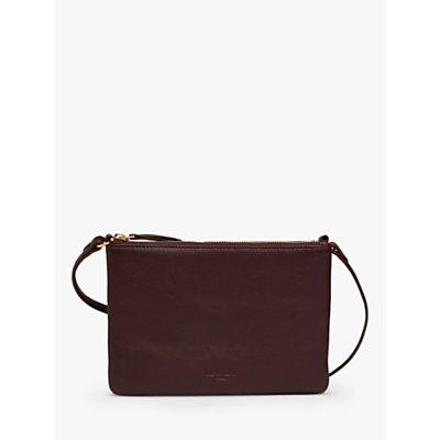 L.K.Bennett Bene Leather Triple Compartment Cross Body Bag
